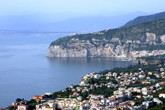 Sorrento Italy. View of Sorrento in the Amalfi Coast in Italy royalty free stock photo