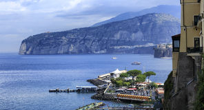 Sorrento in Italy. A view of the coast of Sorrento in Italy Royalty Free Stock Photo