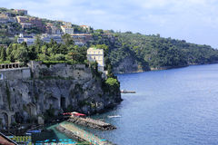 Sorrento in Italy. A view of the coast of Sorrento in Italy Stock Images