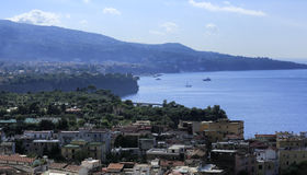 Sorrento in Italy. A view of the coast of Sorrento in Italy Royalty Free Stock Photos
