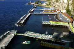 Sorrento, italy. View of marina in sorrento, city in mediterranean coast of italy Stock Image