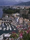 SORRENTO, ITALY. VIEW OVER MARINA SORRENTO, ITALY stock photo