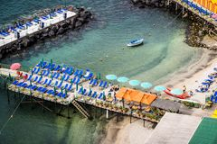 Sorrento kąpania platformy, Włochy zdjęcie royalty free