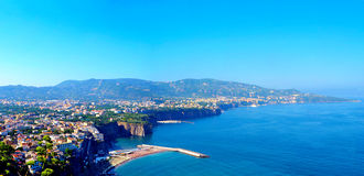 Sorrento Landscape. View of Sorrento Bay of Naples Royalty Free Stock Photography