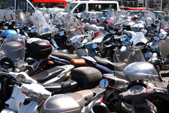 Sorrento motorbike parking Italy Stock Images