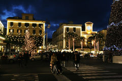 Sorrento by night. The lights of sorrento in italy during christmas time Royalty Free Stock Photo