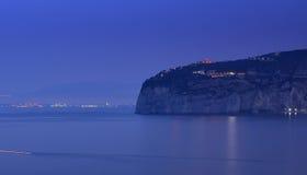 Sorrento opóźniony wieczór, Włochy zdjęcie royalty free