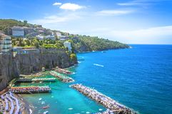 Sorrento, Panorama. The town of Sorrento, panorama to the beach Royalty Free Stock Photography
