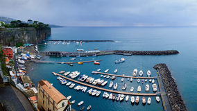 Sorrento panoramic view. Panoramic view of the port of Sorrento Stock Photography
