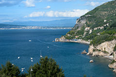 Sorrento Peninsula, Italy. Landscape coast of Sorrento, Italy Royalty Free Stock Photography