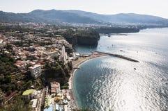 Sorrento peninsula. Panoramic view of the sorrento coast, Italy Royalty Free Stock Image