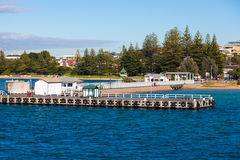 Sorrento pier, Australia. Pier at Sorrento where the Queenscliff ferry departs and docks Royalty Free Stock Photo
