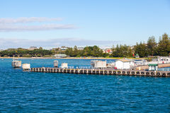 Sorrento pier, Australia. Pier at Sorrento where the Queenscliff ferry departs and docks Stock Images