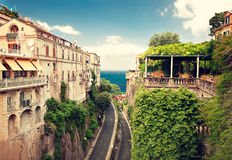 Sorrento. Place , Italy,cliff and beach Stock Photo