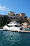 Sorrento Port. Photo of yacht in Sorrento port, Italy Royalty Free Stock Images