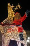 Sorrento santa claus. A big santa claus on a reindeer at sorrento in italy royalty free stock images