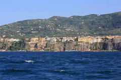 Sorrento Seascape. Sorrento Landscape From Tyrrhenian Sea in Italy Stock Photography