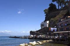 The old town of Sorrento going down into the original fishing harbour of Marina Grande in Sorrento. Sorrento is a small city in Campania, Italy, with some 16,500 stock images