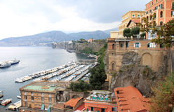 Port of Sorrento, Tyrrhenian coast, Italy Royalty Free Stock Photos