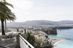 Sorrento and Sorrento coast. Panoramic view of Sorrento and the Sorrento coast royalty free stock photo