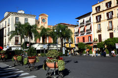 Sorrento - South Italy. The main square of Sorrento Stock Photography