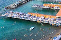 Sorrento, southern Italy. Beach of Sorrento, summer hoiday, southern Italy Stock Image