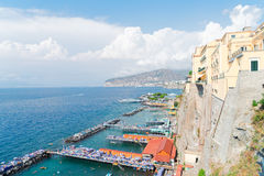 Sorrento, southern Italy. Embankment and beach of Sorrento, southern Italy Stock Photo