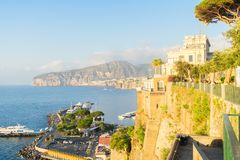 Sorrento, southern Italy. Harbour and beach of Sorrento, southern Italy stock photos