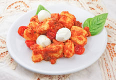 Sorrento style gnocchi. Famous italian recipe with potatoes Royalty Free Stock Photos