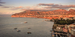 A Sorrento sunset. And the Bay of Naples, Italy Stock Photography