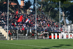Sorrento supporters Stock Photo