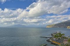 Sorrento, Vesuvius, Naples Bay. View of Sorrento, Mount Vesuvius and Naples Bay Stock Photography