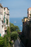 Sorrento Views. Seascape (and Napoli) views from piazza Tasso in Sorrento, Italy Stock Photo