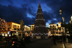 The sorrento xmas. The main square of sorrento in italy during christmas time Royalty Free Stock Photography