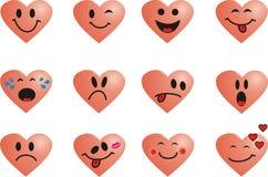 Sorri o coração Imagens de Stock Royalty Free