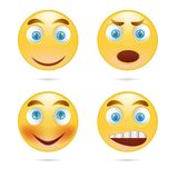 sorri o vetor do ícone Fotografia de Stock Royalty Free