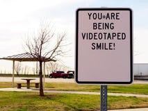 Sorrida vostro sono sulla macchina fotografica Fotografia Stock Libera da Diritti