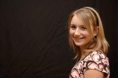Sorridendo, adolescente felice fotografia stock