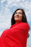 Sorridendo alla natura fotografie stock libere da diritti