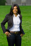 Sorridere abbastanza indiano della ragazza Immagine Stock