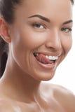 Sorridere abbronzato della ragazza Fotografia Stock Libera da Diritti