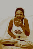 Sorridere adolescente Fotografie Stock Libere da Diritti