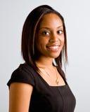Sorridere africano della donna Fotografia Stock
