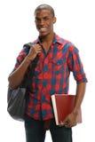 Sorridere afroamericano dello studente fotografia stock