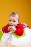 Sorridere allegro del bambino Fotografia Stock