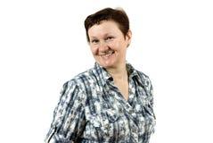 Sorridere anziano della donna fotografia stock
