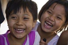 Sorridere asiatico dei bambini Immagini Stock