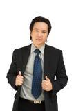 Sorridere asiatico sicuro dell'uomo di affari immagini stock libere da diritti