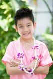 Sorridere asiatico sveglio del ragazzo Immagini Stock Libere da Diritti