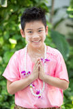 Sorridere asiatico sveglio del ragazzo Fotografia Stock Libera da Diritti